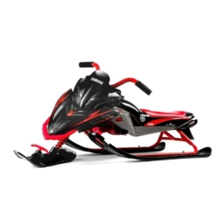 Снегокат Yamaha, лицензионный красный (мягкое кресло, тормоз, трос, удобные ручки)