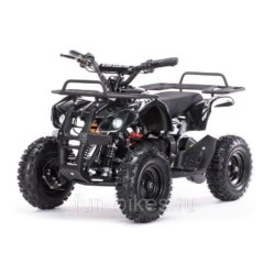 Детский квадроцикл на аккумуляторе MOTAX Mini Grizlik Х-16 мощностью 1000W черный (пульт контроля, до 30 км/ч)