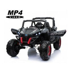 Электромобиль Buggy XMX603 MP4 черный карбон (сенсорный дисплей, 2х местный, полный привод, резина, кожа, пульт, музыка)
